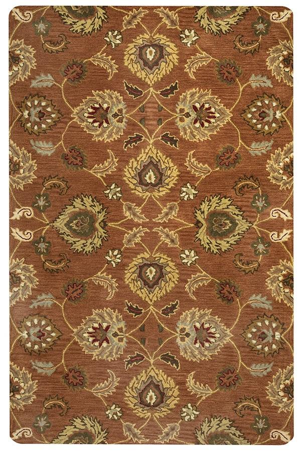 Rust, Khaki, Brown, Burgundy Traditional / Oriental Area Rug