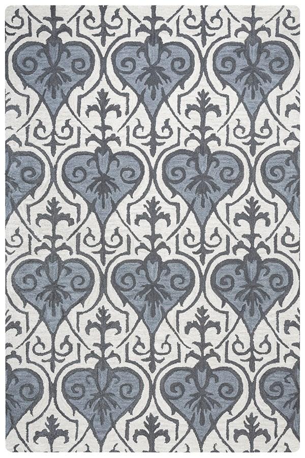 Blue, Dark Gray, Light Gray Moroccan Area Rug