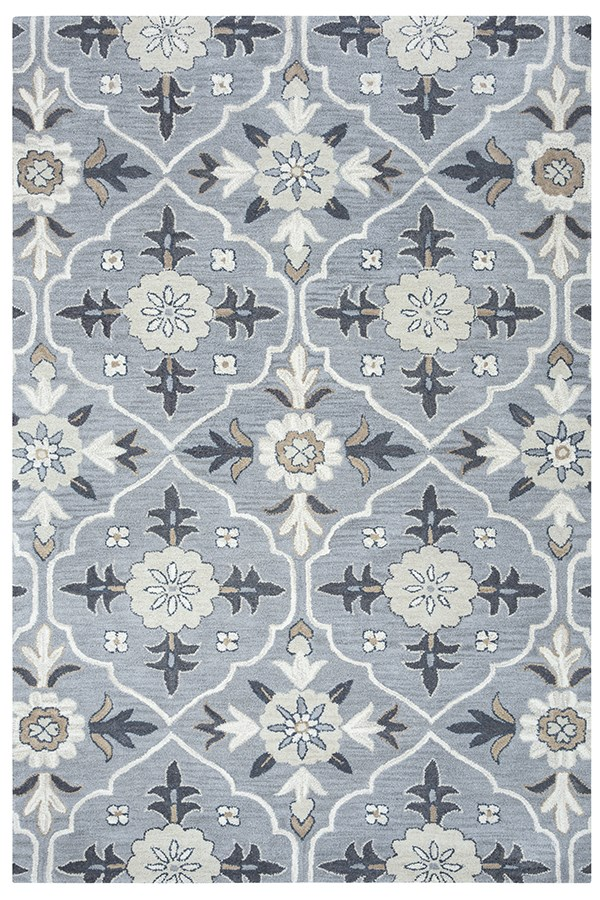 Blue, Tan, Gray Moroccan Area Rug