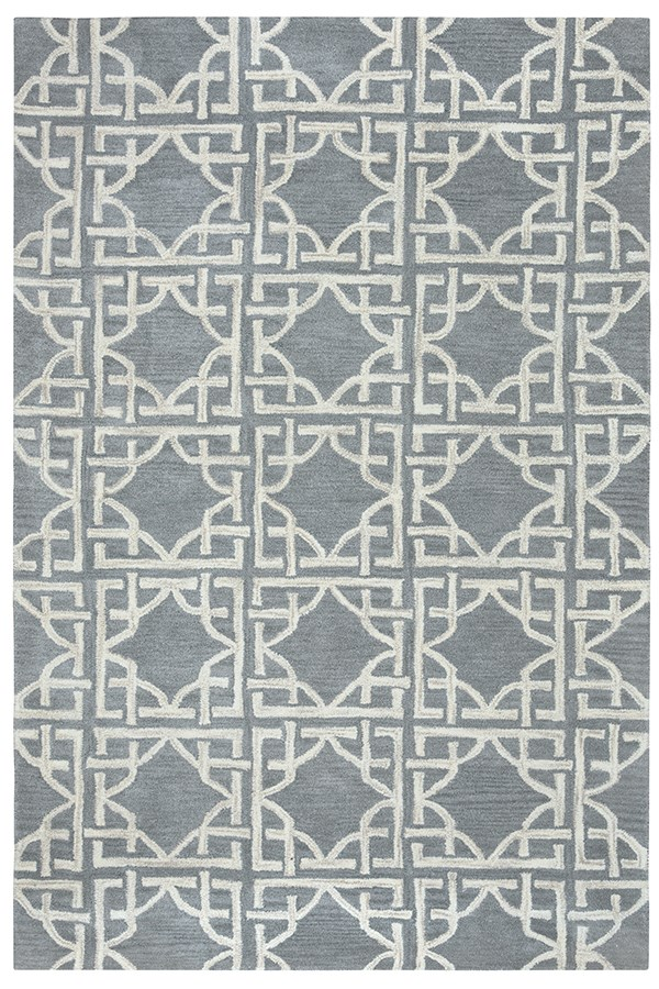 Blue, Light Grey Moroccan Area Rug