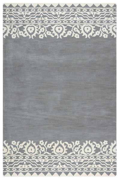 Gray, Cream Transitional Area Rug