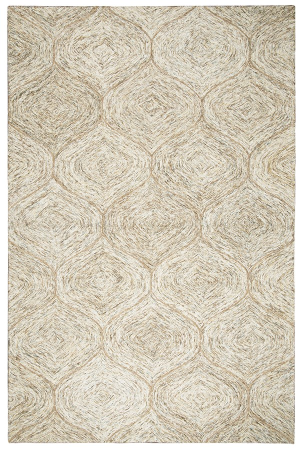 Brown, Ivory Moroccan Area Rug