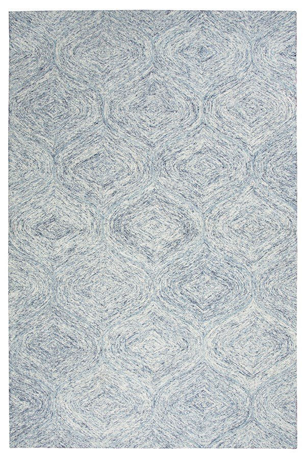 Blue, Ivory Moroccan Area Rug