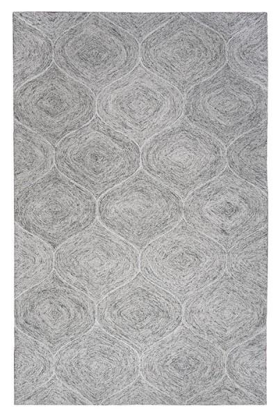 Gray, Ivory Contemporary / Modern Area Rug