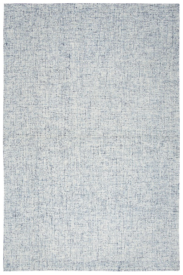 Blue, Ivory Casual Area Rug