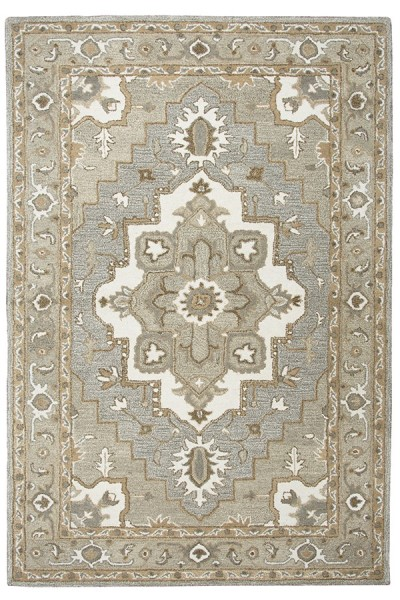 Gray, Natural Traditional / Oriental Area Rug