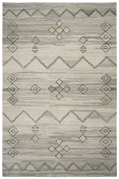 Gray, Natural Moroccan Area Rug