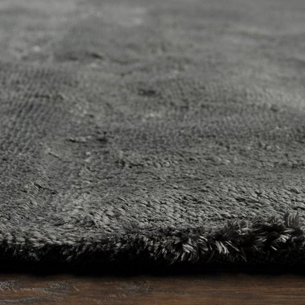 Dark Grey Casual Area Rug