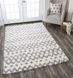 Product Image of Grey, Ivory (AN-695A) Shag Area Rug