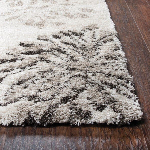 Cream, Beige (AN-698A) Shag Area Rug