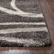 Product Image of Brown, Beige (AN-701A) Shag Area Rug
