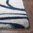 Product Image of Grey, Navy (AN-703A) Shag Area Rug