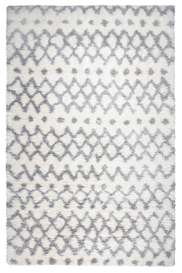 Grey, Ivory (AN-695A) Shag Area Rug