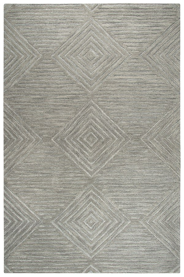 Grey (A) Textured Solid Area Rug