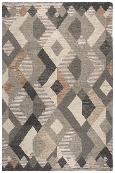 Natural, Dark Brown, Copper (A) Southwestern / Lodge Area Rug