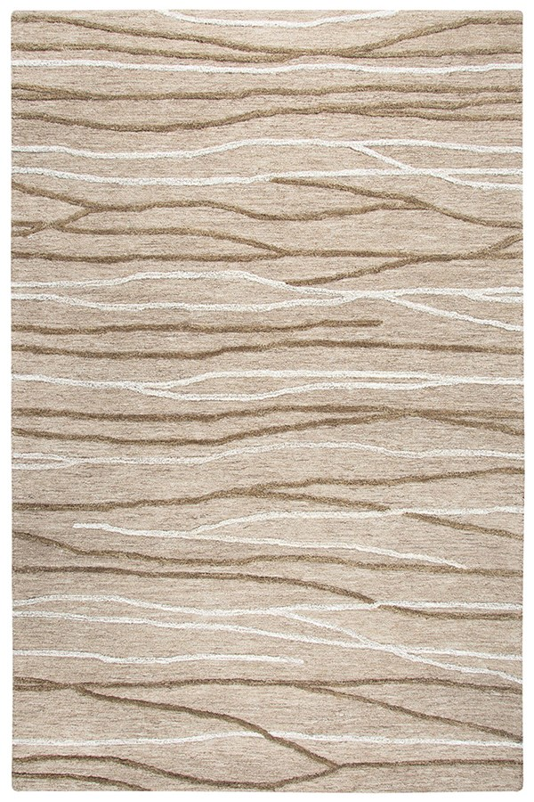 Natural, Brown (A) Transitional Area Rug