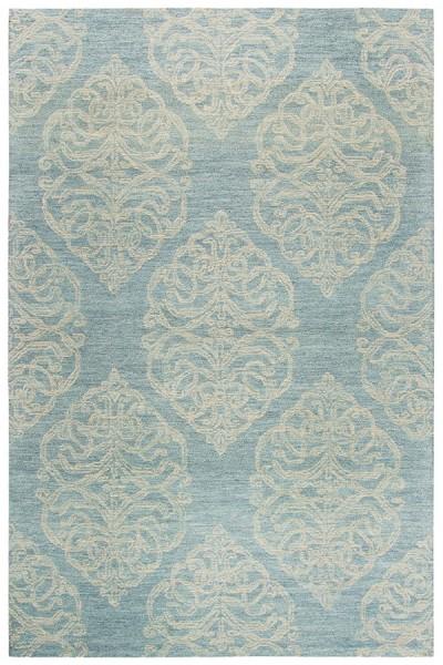 Light Blue, Light Grey, Beige (A) Contemporary / Modern Area Rug