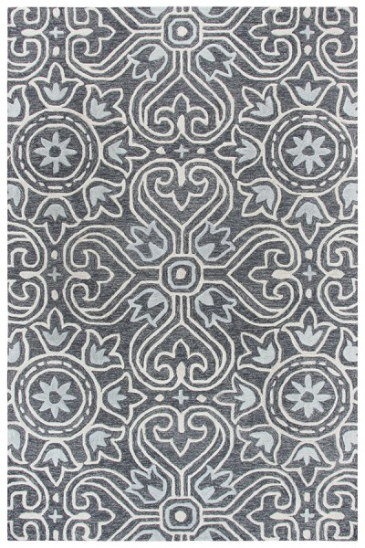 Grey, Light Grey, Natural (A) Transitional Area Rug