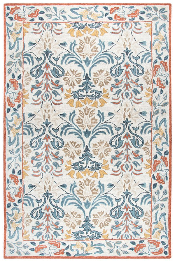 Natural, Blue Grey, Gold, Brown (A) Transitional Area Rug