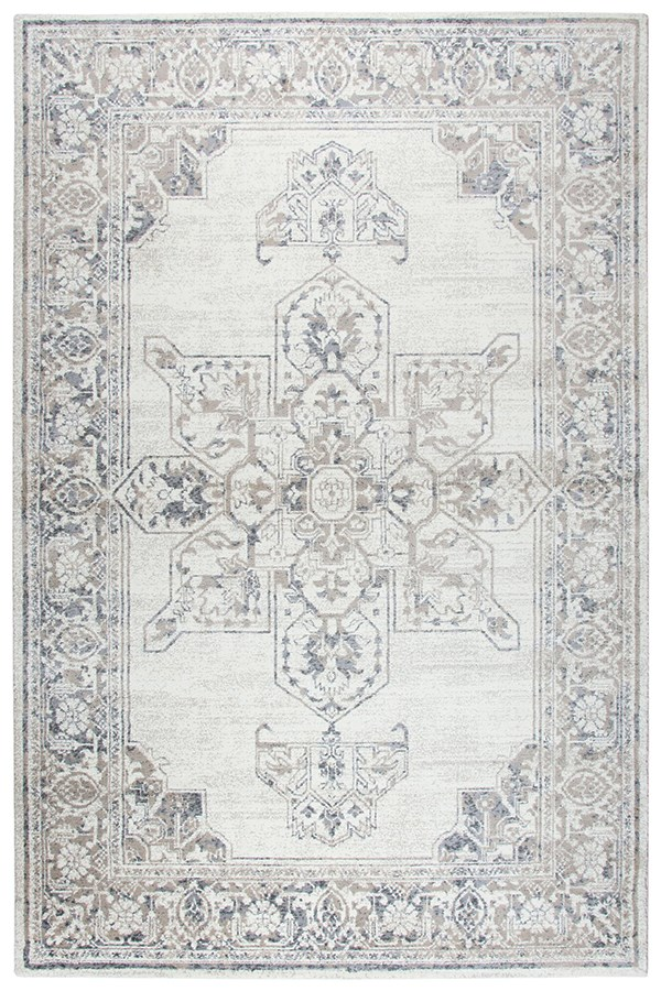 Natural, Beige, Grey Traditional / Oriental Area Rug