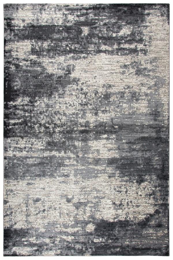 Dark Grey, Tan, Grey Contemporary / Modern Area Rug