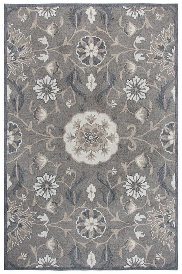 Dark Taupe, Grey, Dark Grey (A) Traditional / Oriental Area Rug
