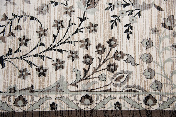 Ivory, Beige, Black, Taupe, Sage Green Traditional / Oriental Area Rug