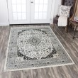 Product Image of Ivory, Grey, Taupe, Black, Sage Green, Traditional / Oriental Area Rug