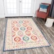 Product Image of Ivory, Orange, Blue, Green, Pink Moroccan Area Rug