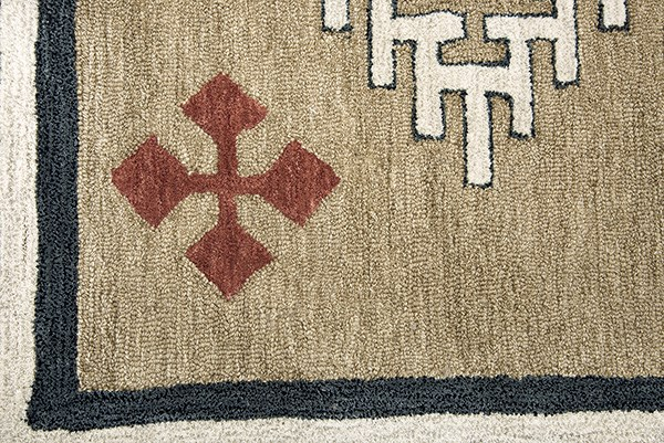 Brown Southwestern / Lodge Area Rug