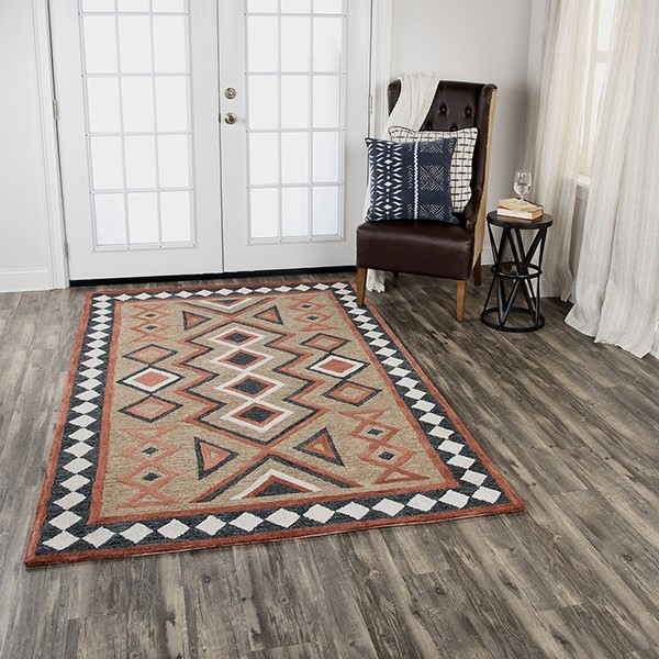 Brown Southwestern / Lodge Area Rug
