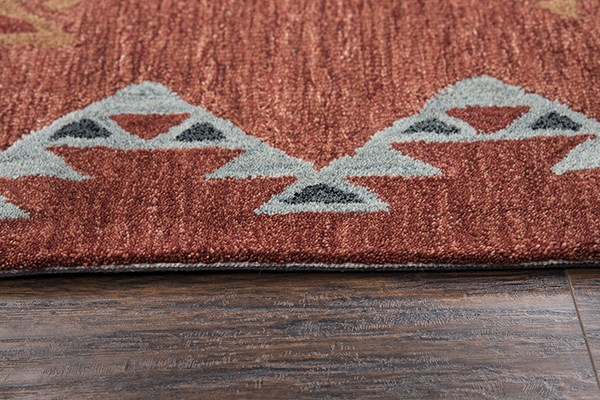 Rust Southwestern / Lodge Area Rug