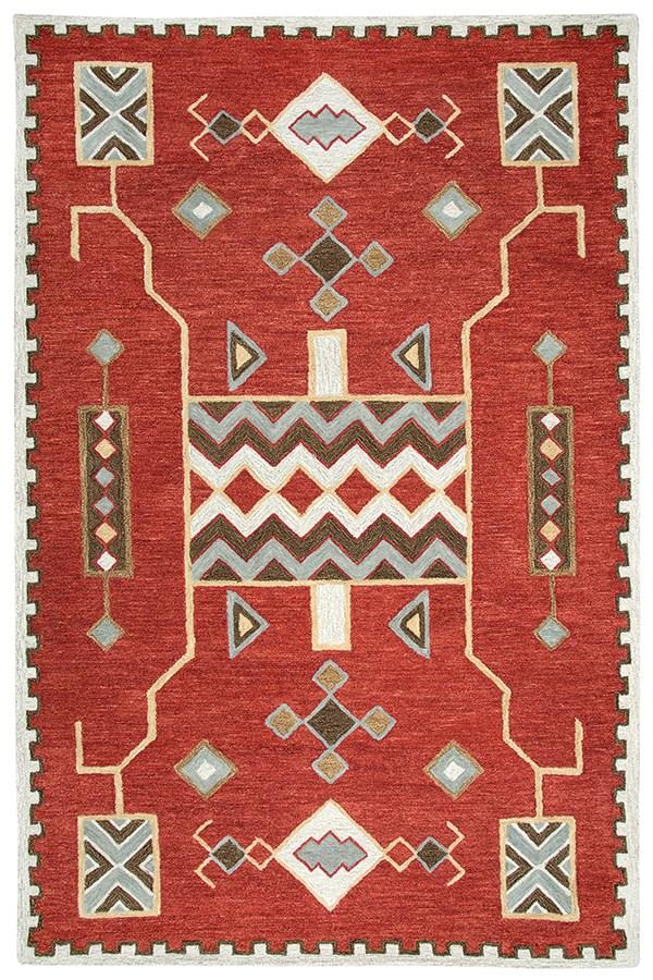 Red Southwestern / Lodge Area Rug