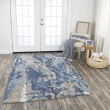 Product Image of Blue, Dark Blue, Grey, Taupe Abstract Area Rug
