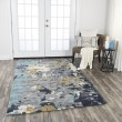 Product Image of Grey, Dark Grey, Teal, Gold Abstract Area Rug