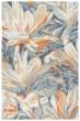 Product Image of Blue, Grey, Beige, Orange Floral / Botanical Area Rug
