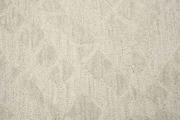 Beige Textured Solid Area Rug