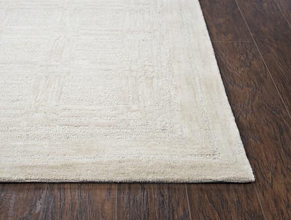 Beige Textured Solid Area Rug