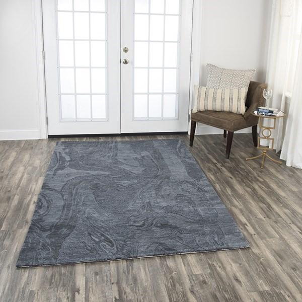 Dark Grey Solid Area Rug