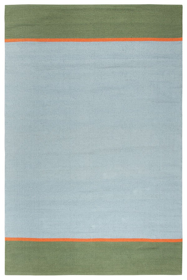 Grey, Green (FT-852A) Striped Area Rug