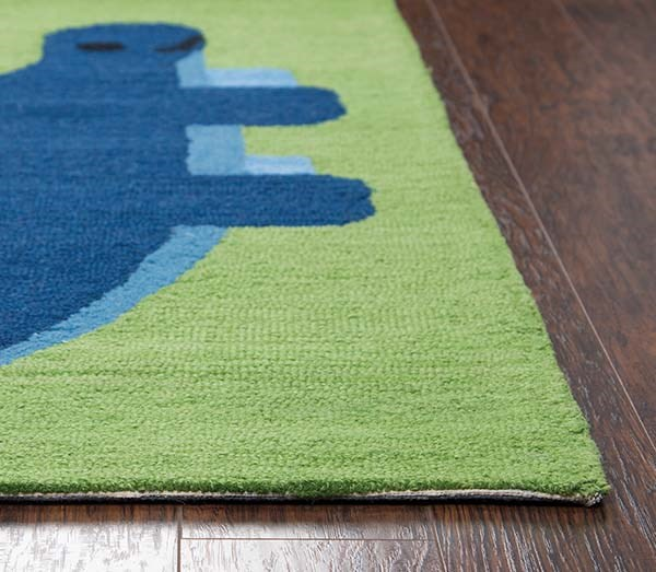 Green, Blue (PD-603A) Children's / Kids Area Rug