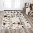 Product Image of Ivory, Beige, Taupe, Grey, Black, Brown Contemporary / Modern Area Rug