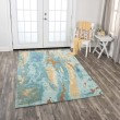 Product Image of Blue, Grey, Teal Abstract Area Rug