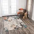 Product Image of Beige, Grey, Orange Abstract Area Rug