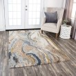 Product Image of Beige, Blue, Grey Abstract Area Rug