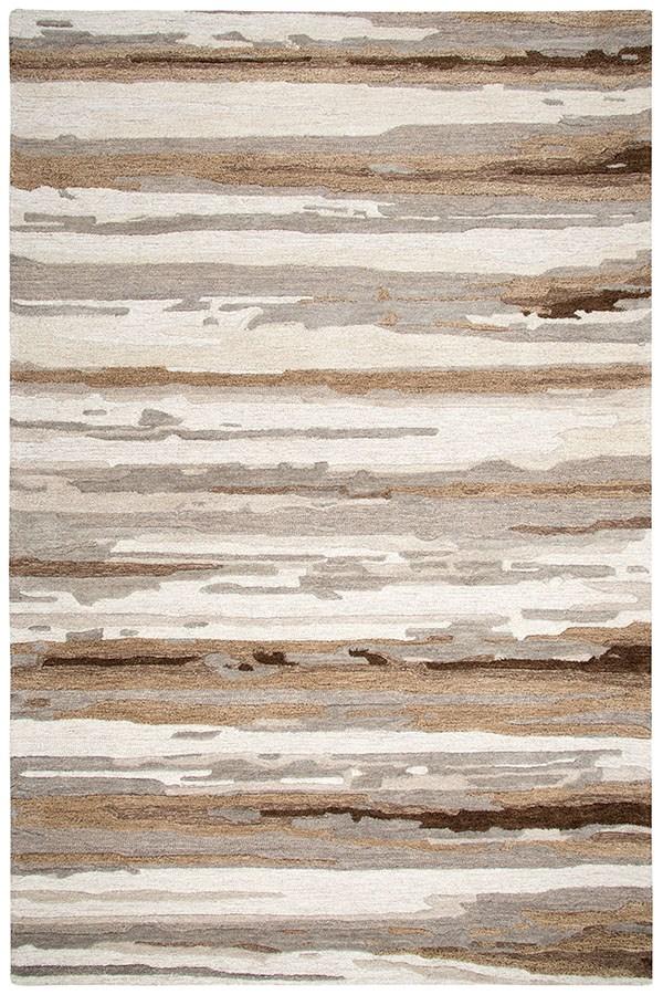 Tan, Beige, Brown (VOG-101) Abstract Area Rug