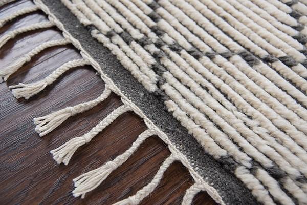 Natural, Grey Moroccan Area Rug