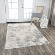 Product Image of Cream, Grey Abstract Area Rug