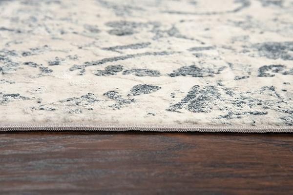 Cream, Grey Vintage / Overdyed Area Rug