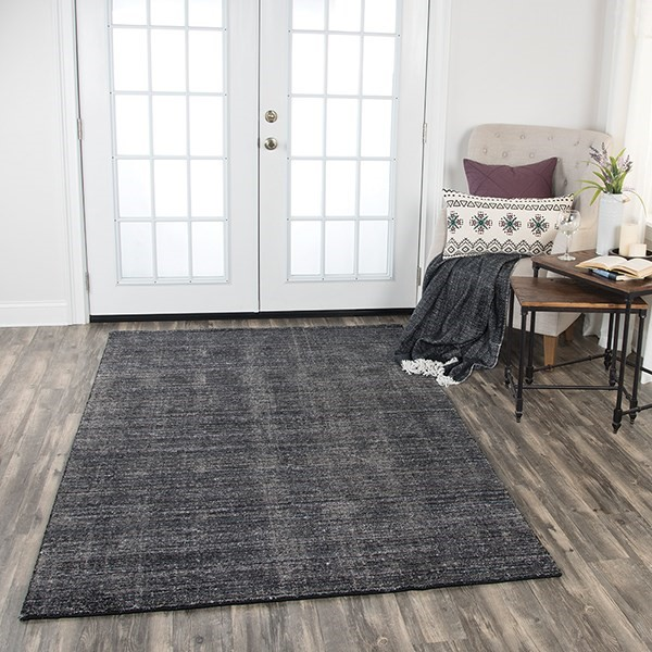 Black, Charcoal (GH-724A) Casual Area Rug
